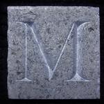Sample letter 'M' cut in Portugese Antico Marble for Moet Hennessy .