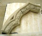 Carving  Apex and Voussoir  for St Hicholas Church. Peper Harow.New west window
