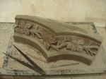 St Nicholas Church .Peper Harow.Surrey .New Ogee arch intertwinned vine leaf motif fullscale maquette for carving in stone